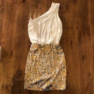 Beautiful white and gold dress